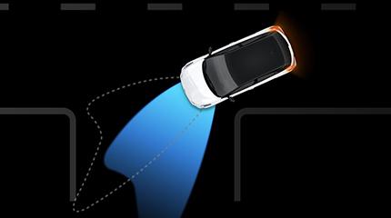 Hyundai i20 Atcive Cross pasisukančios šviesos