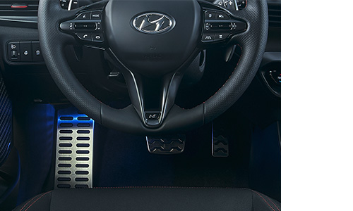 Hyundai i20 N LINE metaliniai pedalai