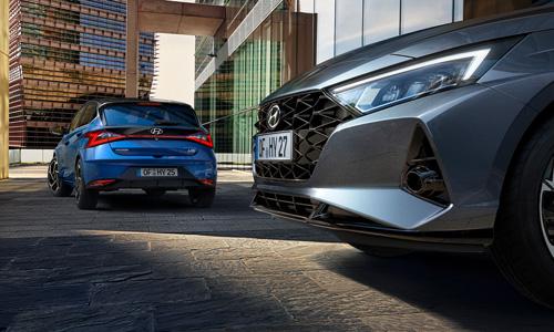 Naujasis Hyundai i20 my21 atbulinės eigos stabdymas