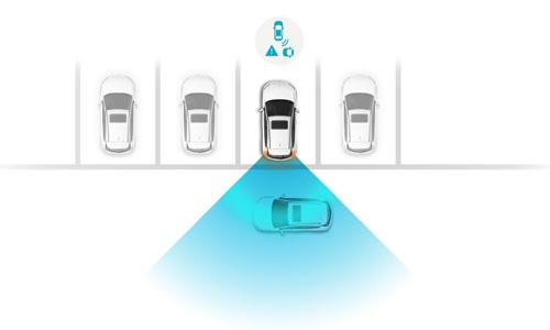 Naujasis Hyundai i20 my21 skersinis eismas gale