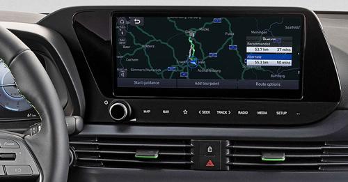Naujasis Hyundai i20 my21 10.25 coliu jutiklinis ekranas