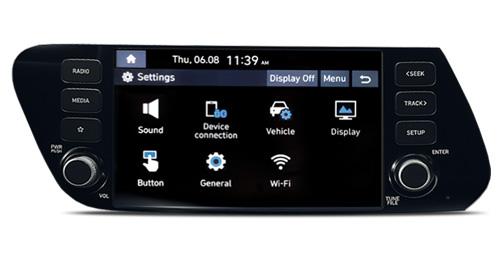 Naujasis Hyundai i20 my21 8col jutiklinis ekranas