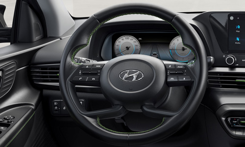 Naujasis Hyundai i20 skaitmeninis skydelis