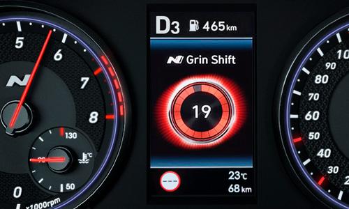 Naujasis Hyundai i30 Fastback N MY21 Grin Control System