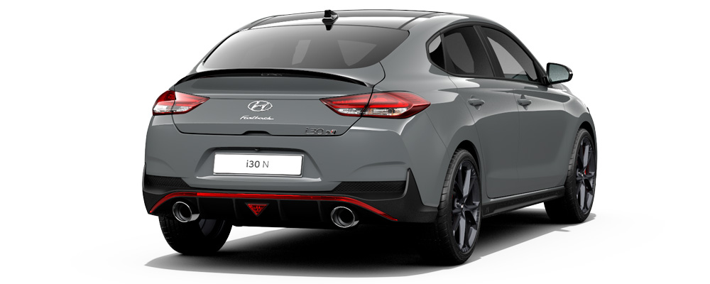 Naujasis Hyundai i30 Fastback N dvigubas išmetimo vamzdis