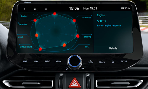 Naujasis Hyundai i30 Fastback N MY21 Performance driving sistema