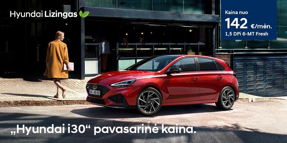 Hyundai lizingas i30 pavasarinė kaina