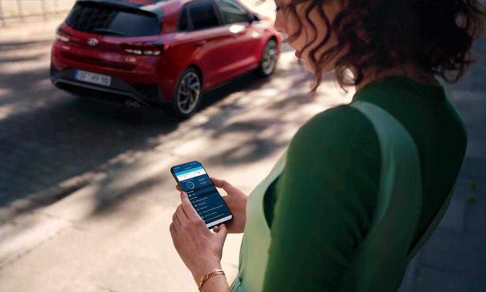 Naujasis Hyundai i30 my21sujunkite telefoną su automobiliu