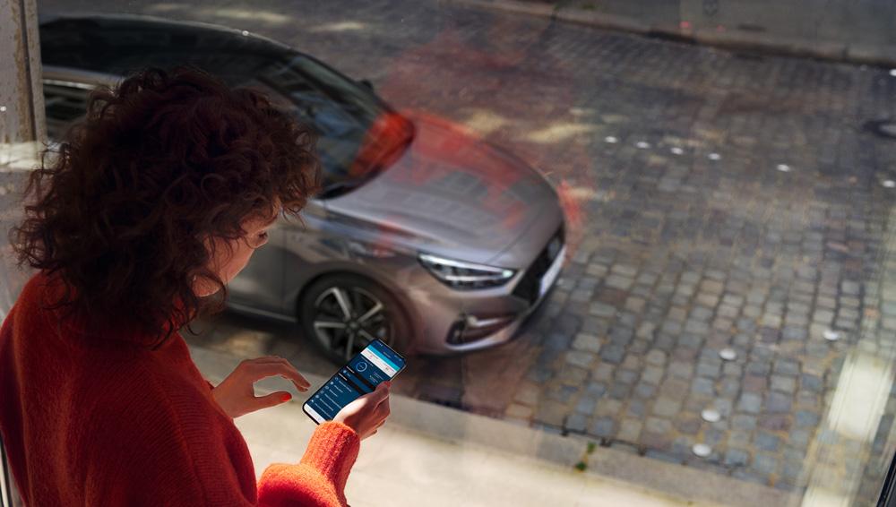 Naujasis Hyundai i30 wagon my21sujunkite telefoną su automobiliu