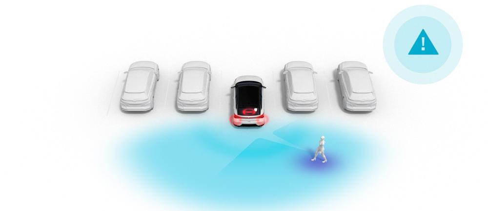 Hyundai i30N MY21 galinio susidūrimo išvengimo priemonė