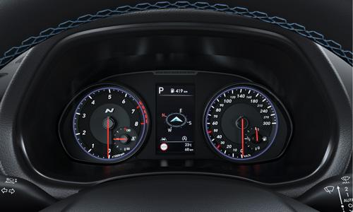 Naujasis Hyundai i30N MY21 N prietaisų skydelis