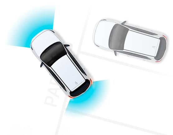 Hyundai i30 N parkingo jutikliai
