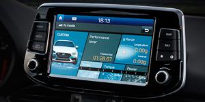 Hyundai i30 N jutiklinis ekranas