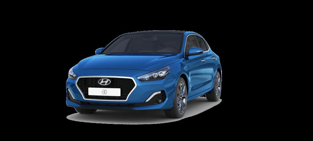 Hyundai i30 Fastback  mėlynas