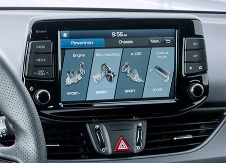 Hyundai i30 Fastback N jutiklinis ekranas