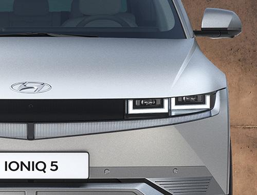 Naujasis Hyundai IONIQ 5 priekiniai LED žibintai