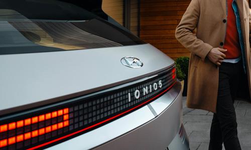 Naujasis Hyundai IONIQ 5 galiniai atšvvaitai