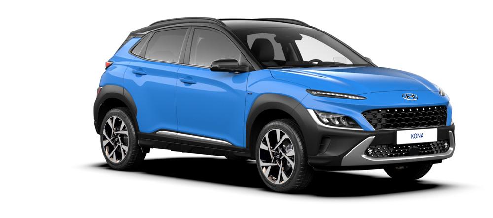 Naujasis Hyundai KONA my21 sportiškas siluetas