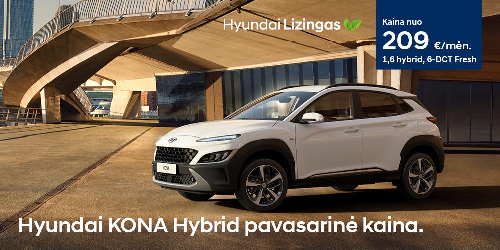 Hyundai lizingas KONA pavasarinė kaina