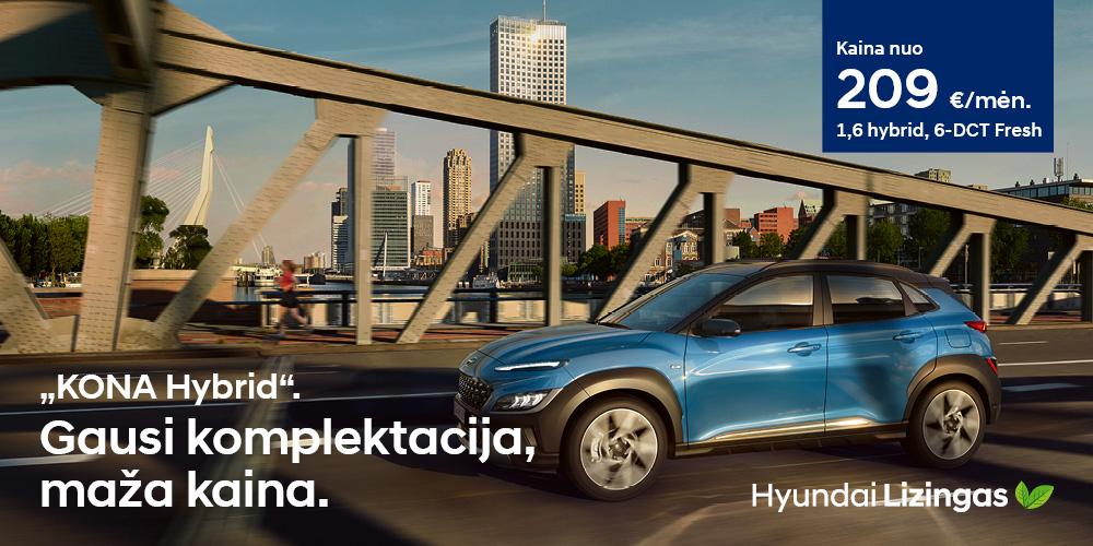 Hyundai lizingas KONA gausi komplektacija, geriausia kaina