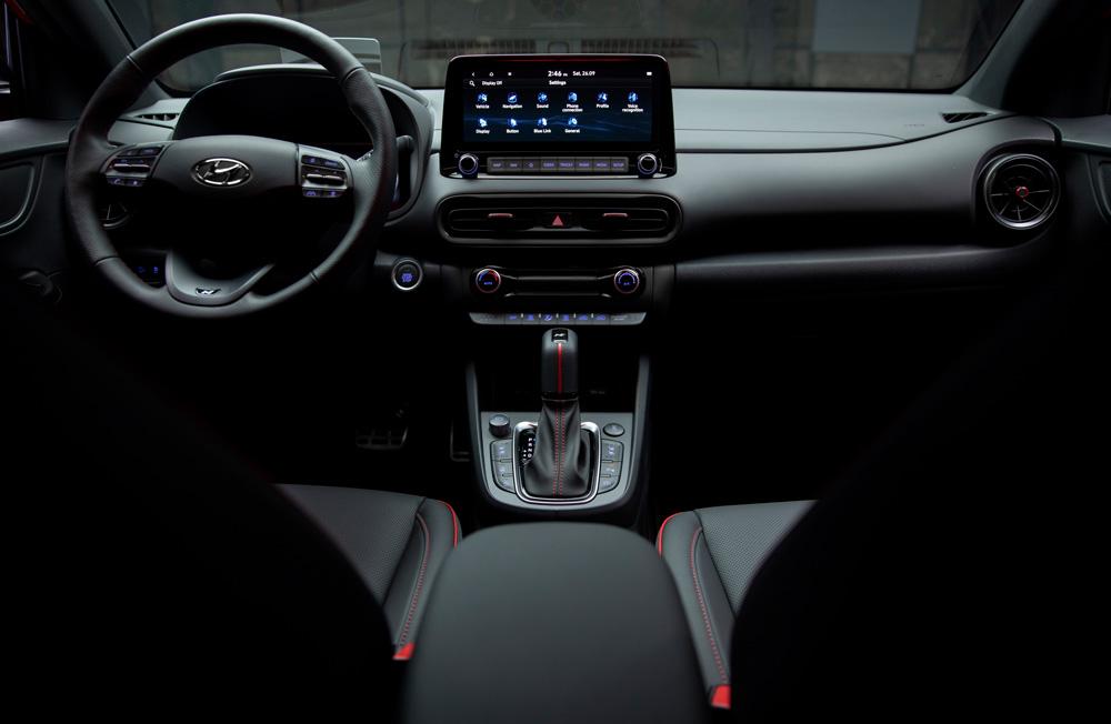 Hyundai KONA N LINE MY21 sportiška išvaizda fakto autocentras