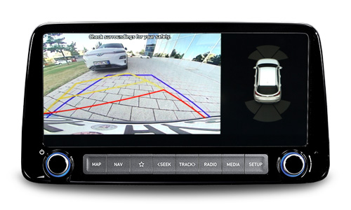 Naujasis Hyundai KONA MY21 galinio vaizdo monitorius