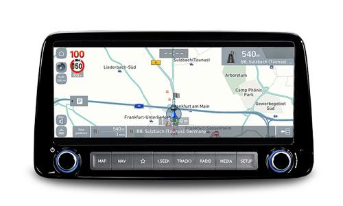 Naujasis Hyundai KONA MY21 jutiklinio ekrano navigacija