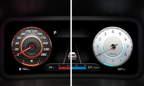Naujasis Hyundai KONA MY21 10.25col skaitmeninis skydas