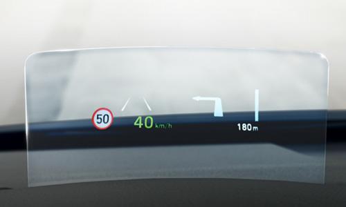 Naujasis Hyundai KONA MY21 projekcinis ekranas