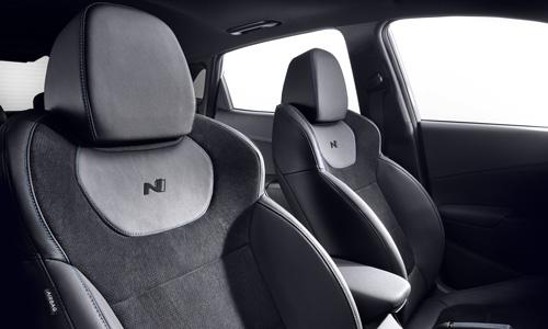 Naujasis Hyundai KONA N my21 sportinės sėdynės