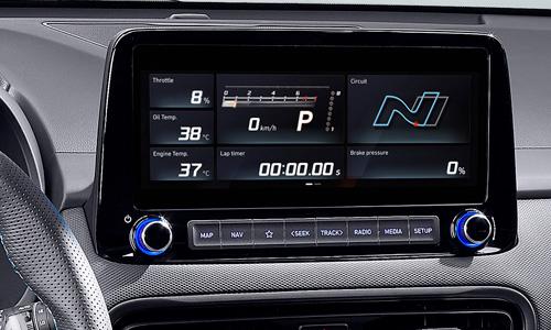 Naujasis Hyundai KONA N my21 performance driving sistema