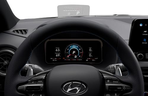 Naujasis Hyundai KONA N my21 parametrų rodymo ekranas