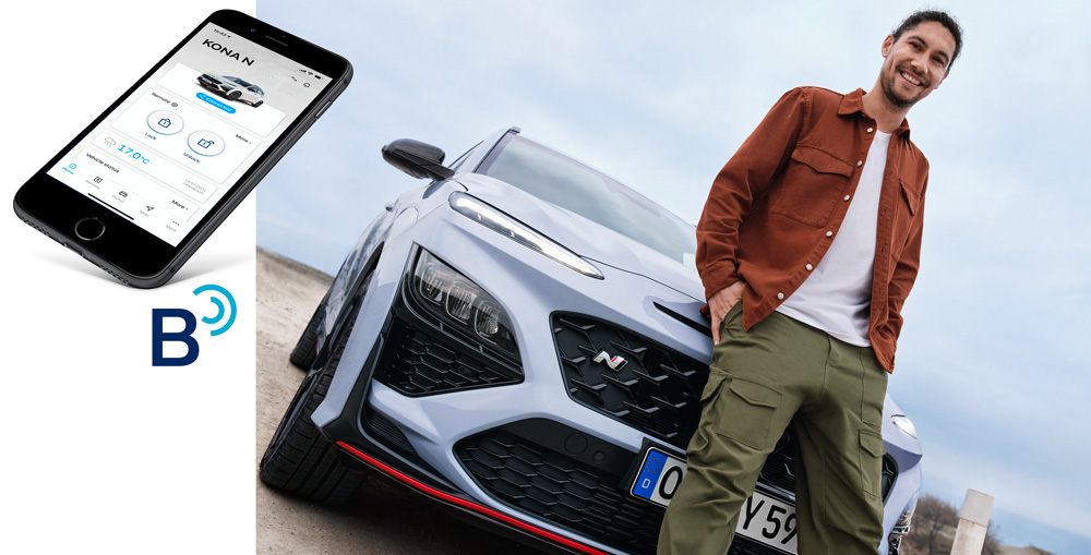 Naujasis Hyundai KONA N my21 Bluelink
