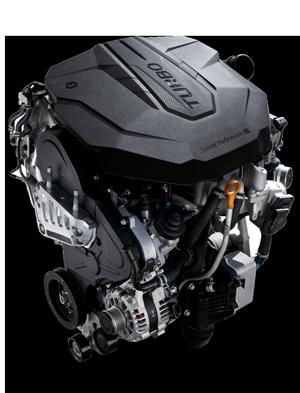 Naujasis Hyundai Santa Fe MY21 dinamika smartstream dyzelinis variklis