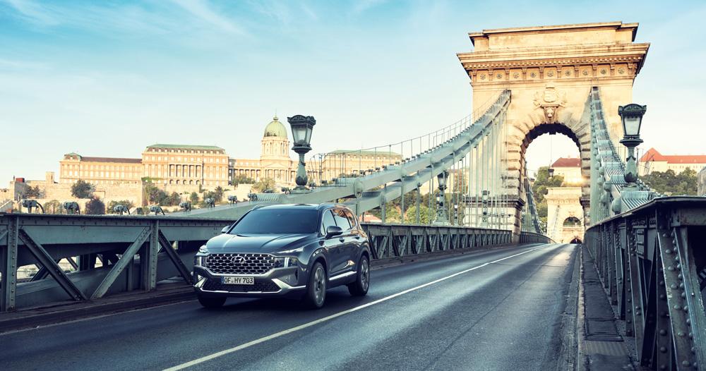 Naujasis Hyundai Santa Fe MY21 dinamika našumas ir efektyvumas