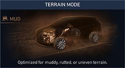 Naujasis Hyundai Santa Fe MY21 dinamika purvo režimas