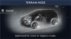 Naujasis Hyundai Santa Fe MY21 dinamika sniego režimas
