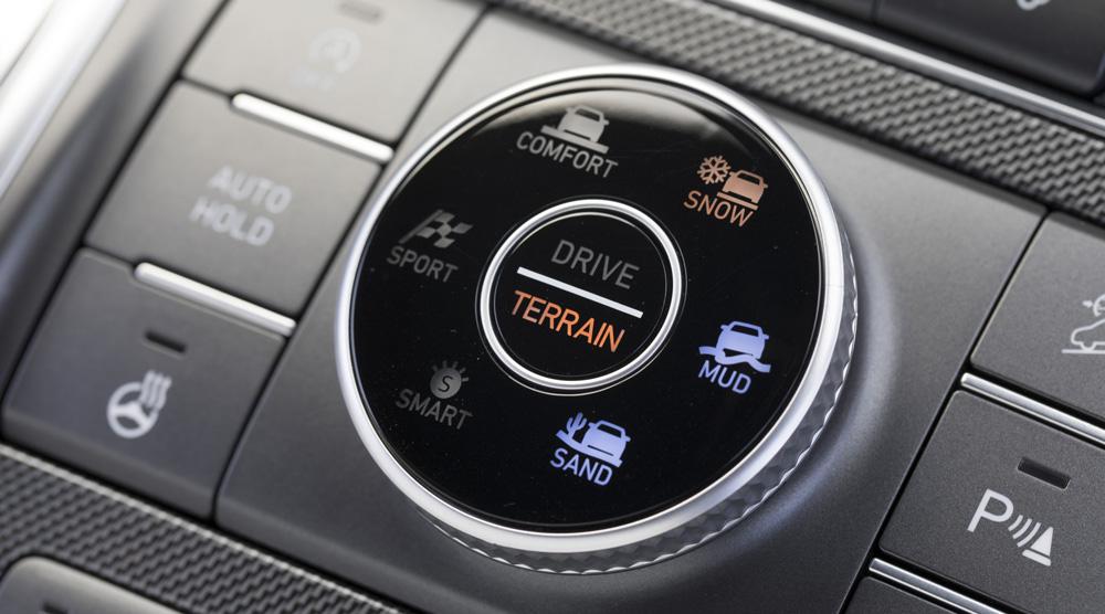 Naujasis Hyundai Santa Fe MY21 dinamika važiavimo režimo pasirinkimas