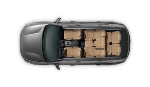 Hyundai Santa Fe MY21 hibridas erdvę taupanti platforma
