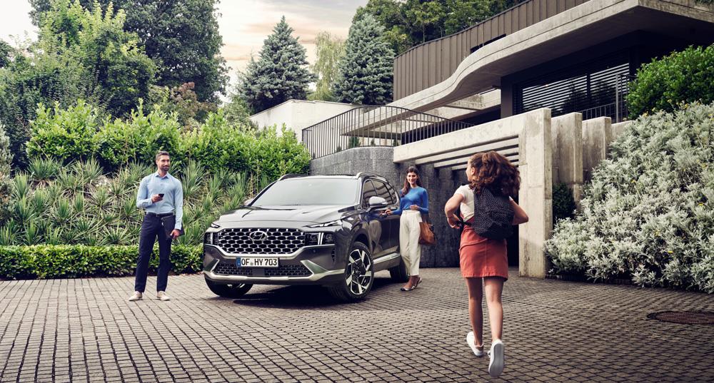 Naujasis Hyundai Santa Fe my21 išorė tvirtas elegantiškas