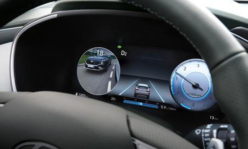 Hyundai Santa Fe MY21 aklos zonos stebėjimo monitorius