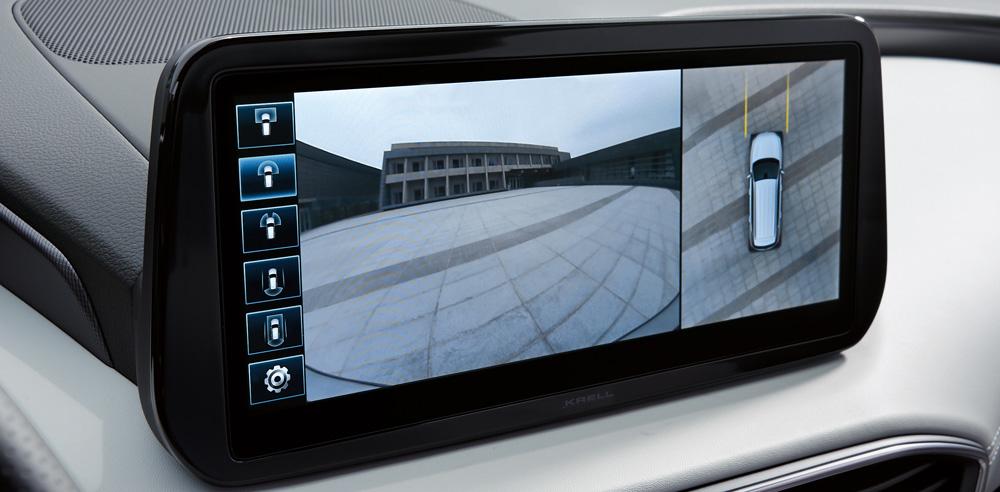 Hyundai Santa Fe MY21 aplinkinio vaizdo stebėjimo sistema