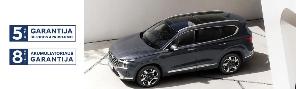 Hyundai Santa Fe MY21 5-ių metų garantija