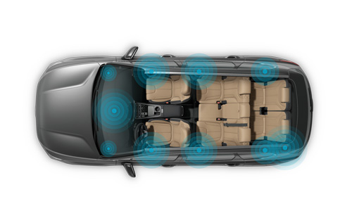 Naujasis Hyundai Tucson Santa Fe MY21 Krell garso sistema