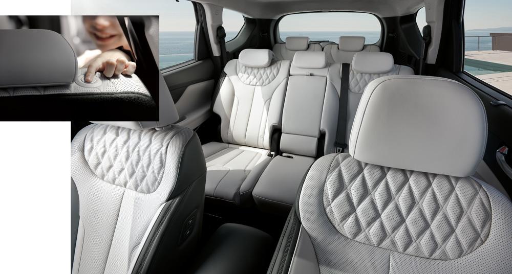 Naujasis Hyundai Santa Fe MY21 vidus galimas 7 sėdimų vietų