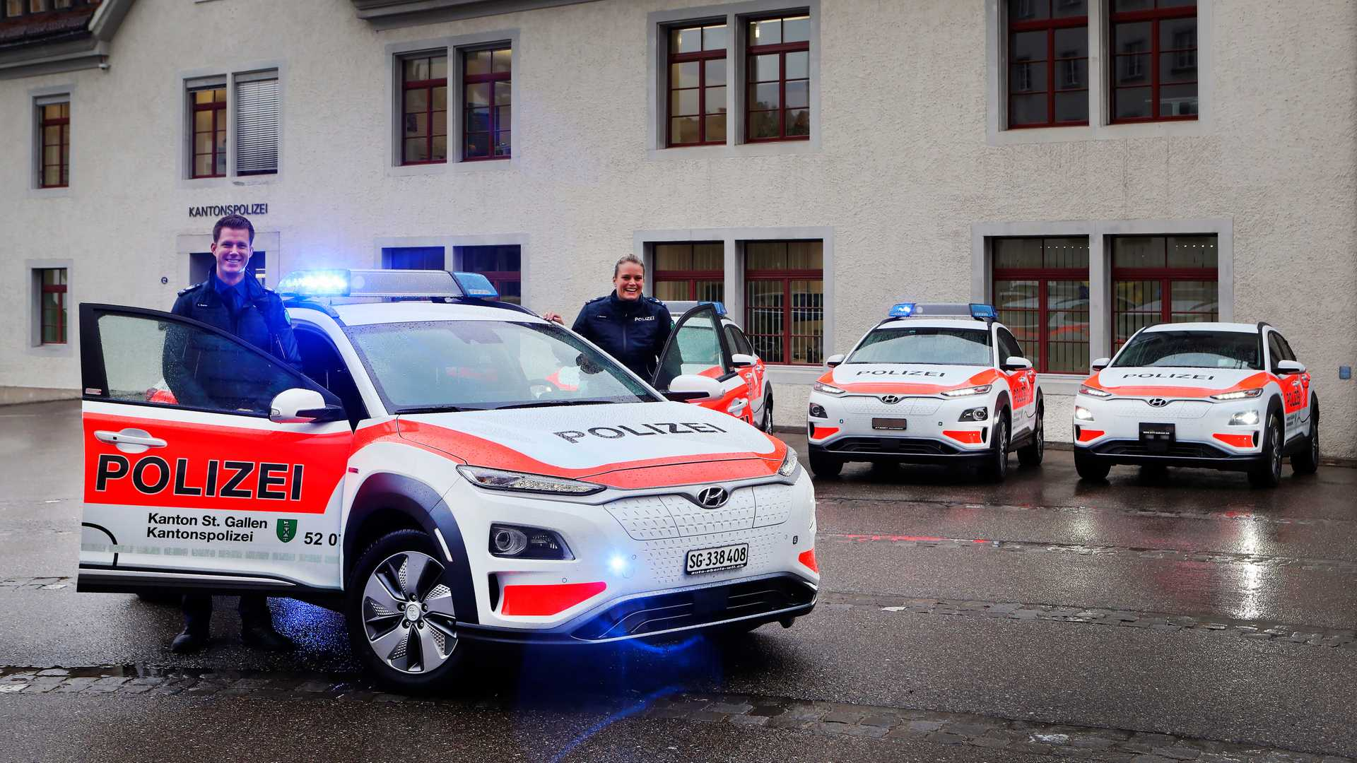 Hyundai KONA EV Police