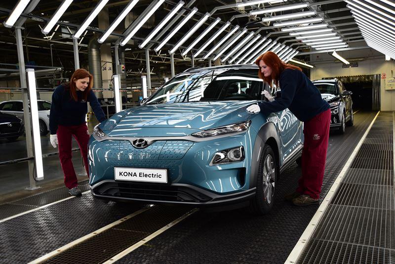 Hyundai Kona Electric pardavimai europoje