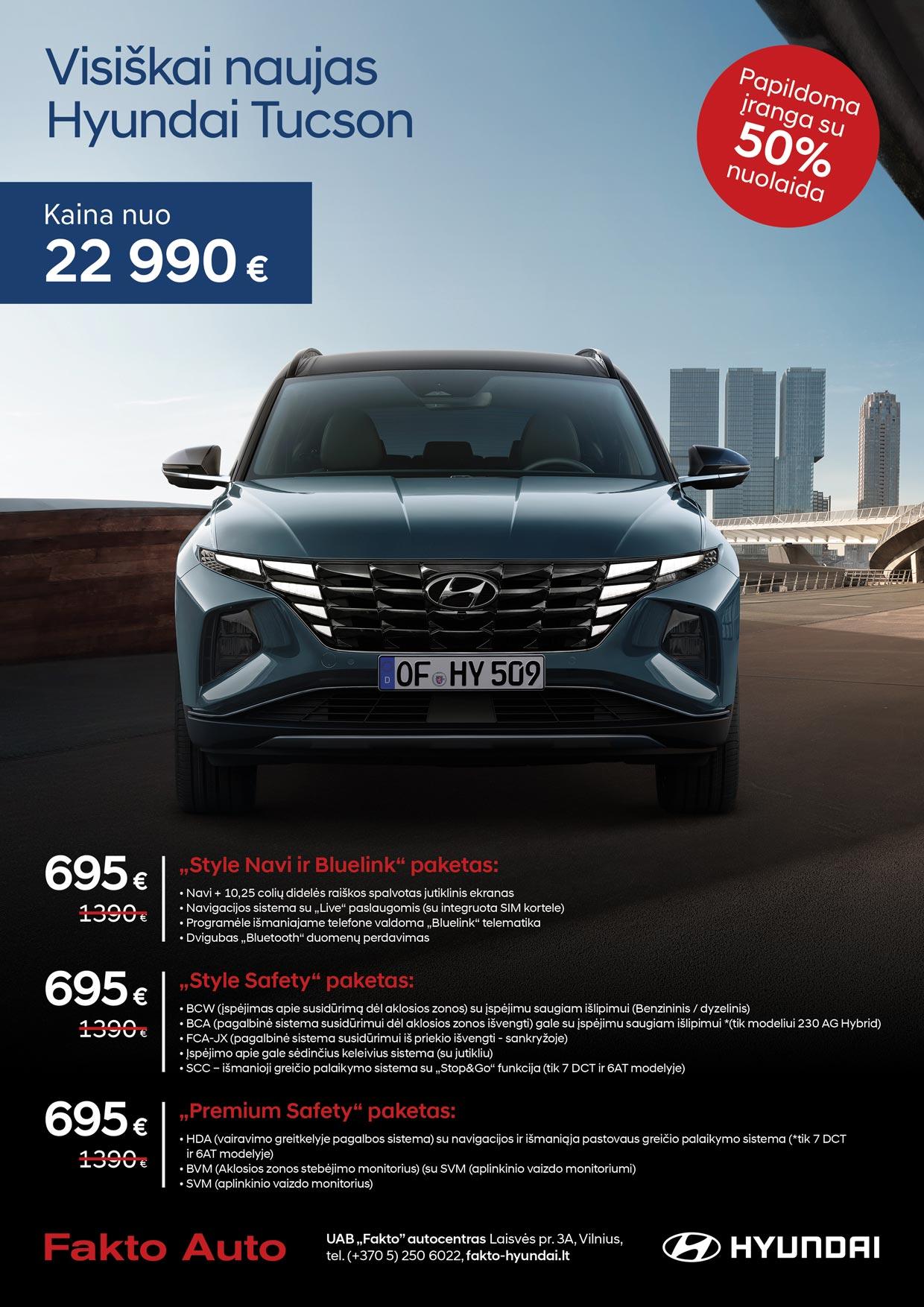 Hyundai tucson irangos pasiulymas