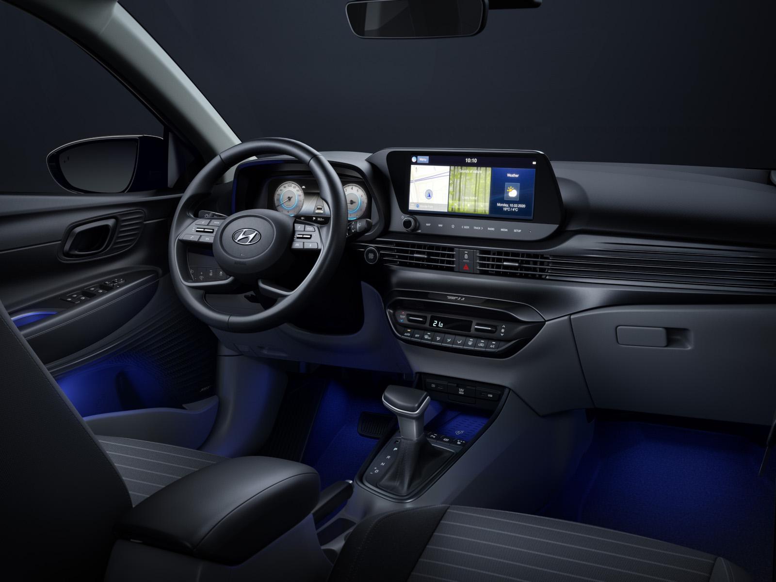 Naujojo Hyundai i20 interjero dizaino naujienos.